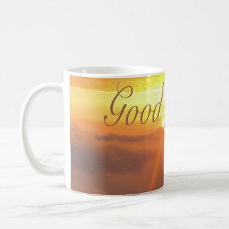 Caneca De Café laranja do sol da manhã do bom dia boa cedo