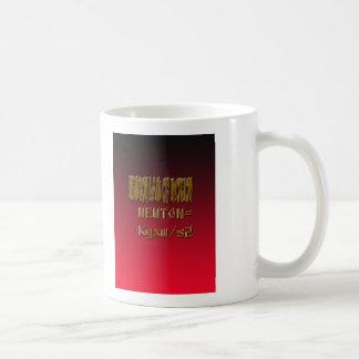 Caneca De Café Lei de Newton do metal de movimento