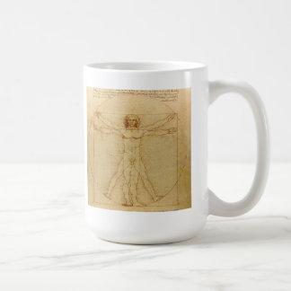 Caneca De Café Leonardo da Vinci , Vitruvian Man