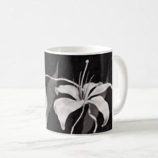 Caneca De Café Lilly preto & branco