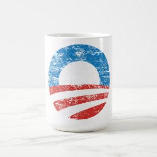 Caneca De Café Logotipo desvanecido de Obama