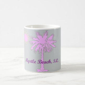 Caneca De Café Logotipo do calor do Palmetto com Myrtle Beach,