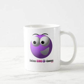 Caneca De Café Logotipo em linha e mascote da mercadoria do Bingo