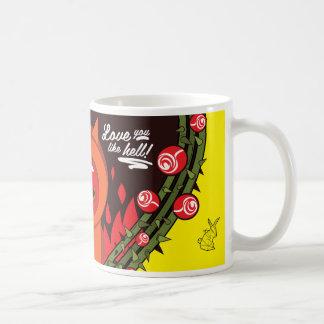 Caneca De Café Love you like hell!