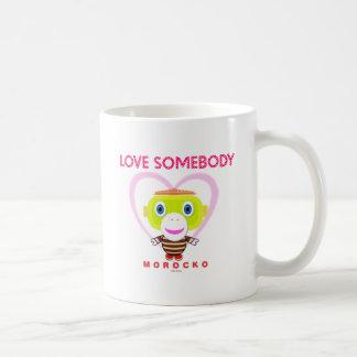 Caneca De Café Macaco-Morocko Alguém-Bonito do amor