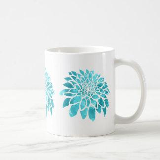 Caneca De Café Mãe azul no branco