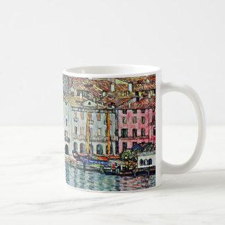 Caneca De Café Malcesine no lago Garda por Gustavo Klimt