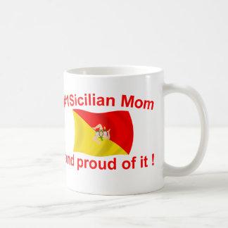 Caneca De Café Mamã #1 siciliano orgulhosa