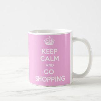 Caneca De Café Mantenha calmo e vá comprar