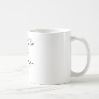 Caneca De Café Mantenha o Crochet calmo sobre