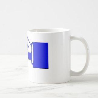 Caneca De Café mão do ponto-chave no copo