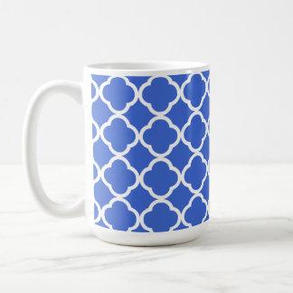 Caneca De Café Marroquino azul Quatrefoil de Han