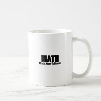 Caneca De Café Matemática. Abuso mental aos seres humanos