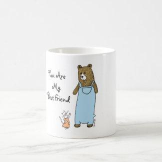 Caneca De Café Melhores amigos gato e copo de café do urso