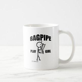 Caneca De Café Menina do jogo do Bagpipe