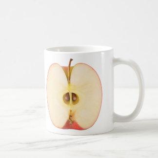 Caneca De Café Metade da maçã vermelha