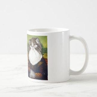 Caneca De Café Meu gato Kevin como a Mona Lisa -