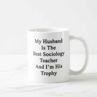 Caneca De Café Meu marido é o melhor professor da Sociologia e eu