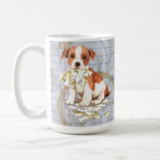 Caneca De Café Meu Parson Russell Terrier comeu meu plano de aula