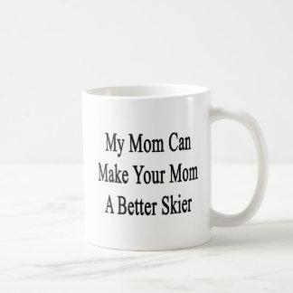 Caneca De Café Minha mamã pode fazer a sua mamã um esquiador