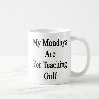 Caneca De Café Minhas segundas-feiras são para o golfe de ensino
