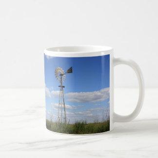 Caneca De Café Moinho de vento do país de KANSAS