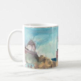 Caneca De Café Moinhos de vento famosos de Mykonos em um copo