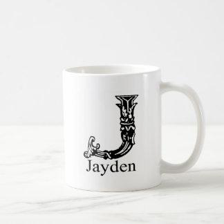 Caneca De Café Monograma extravagante: Jayden