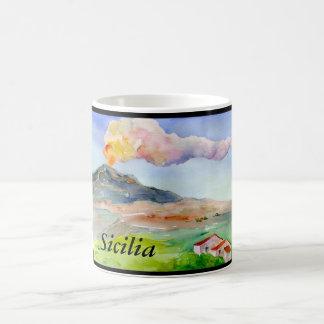 Caneca De Café Monte Etna Sicilia