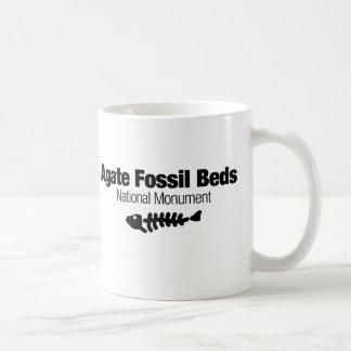 Caneca De Café Monumento nacional das camas fósseis da ágata