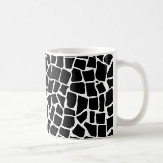 Caneca De Café Mosaico britânico preto e branco