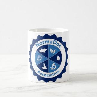 Caneca De Café Mug branco Logotipo NormaDoc Azul