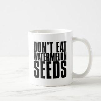 Caneca De Café Não coma sementes da melancia