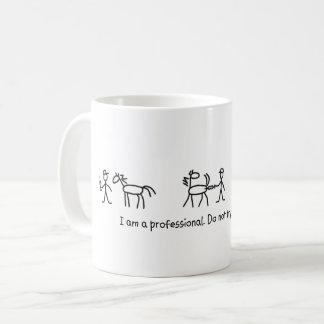Caneca De Café Não tente este em casa profissional (veterinário)
