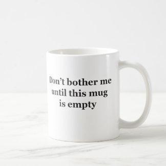Caneca De Café Não uma pessoa da manhã (versão canhota)