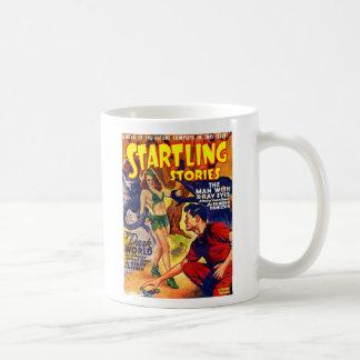 Caneca De Café Nave espacial sobressaltado das histórias do SciFi
