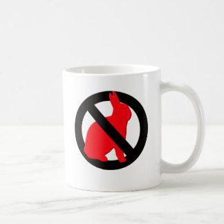 Caneca De Café Nenhuns coelhos permitidos