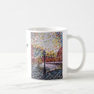 """Caneca De Café """"New Morning óleo de um canal holandês """"… -"""