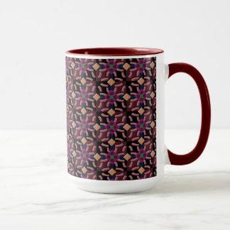 Caneca de café no teste padrão marroquino do