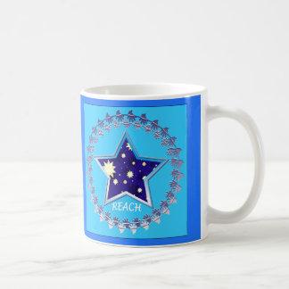 """Caneca De Café O"""" alcance inspirador para as estrelas"""" agride"""
