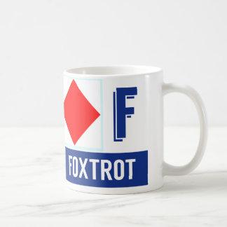 """Caneca De Café O alfabeto náutico """"F"""" da bandeira Foxtrot"""