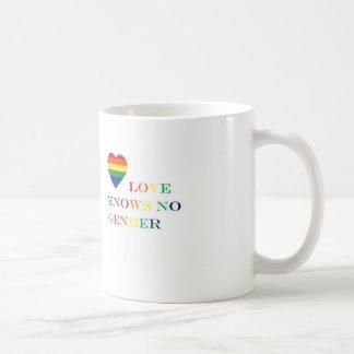 Caneca De Café O amor não sabe nenhum género (a bebida a ele)