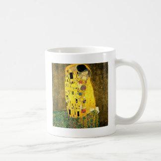 Caneca De Café O beijo pela arte Nouveau de Gustavo Klimt