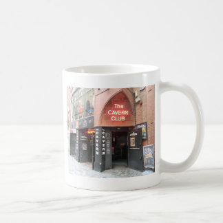 Caneca De Café O clube da caverna na rua do Mathew de Liverpool