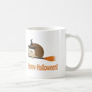 Caneca De Café O Dia das Bruxas feliz! Bruxa do ouriço