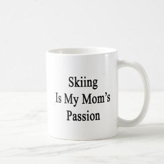 Caneca De Café O esqui é minha paixão da mãe