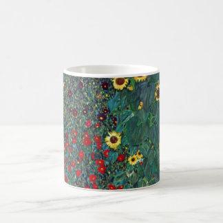 Caneca De Café O girassol por Klimt, vintage de Farmergarden w