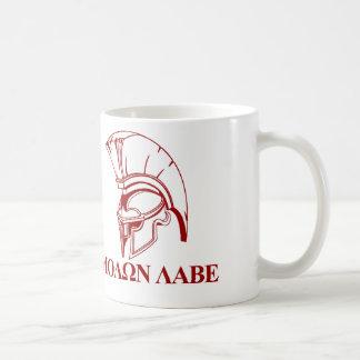 Caneca De Café O grego espartano vem tomar-lhe Molon Labe