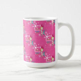 Caneca De Café O Grinch | Cindy-Lou que teste padrão cor-de-rosa