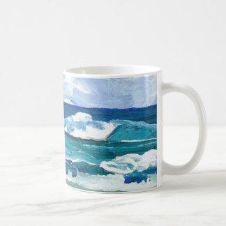 Caneca De Café O mar acena no jogo - arte do oceano de
